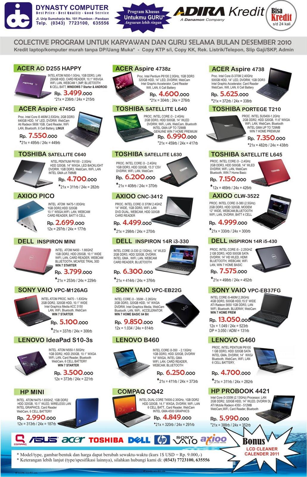 Dynasty Computer Indonesia Nb Laptop Bagimu Guru