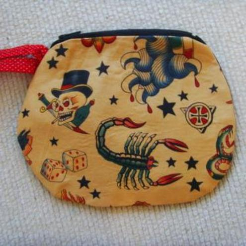 Retro gothic tattoo purse by http://www.folksy.com/shops/zazujewellery