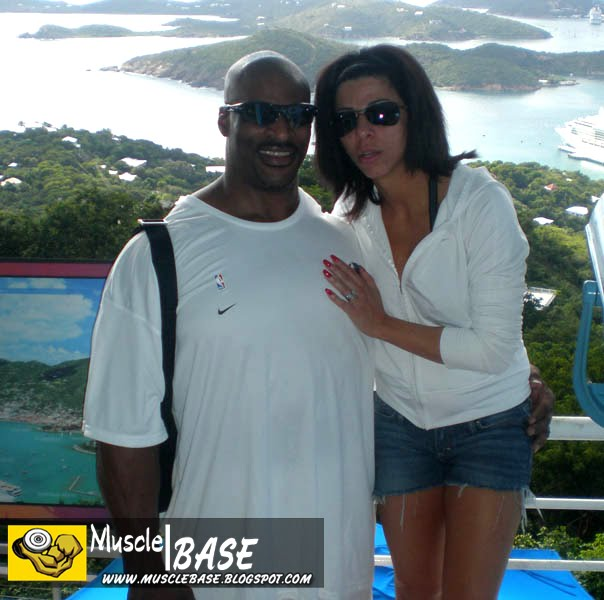 Ronnie Coleman with his wife