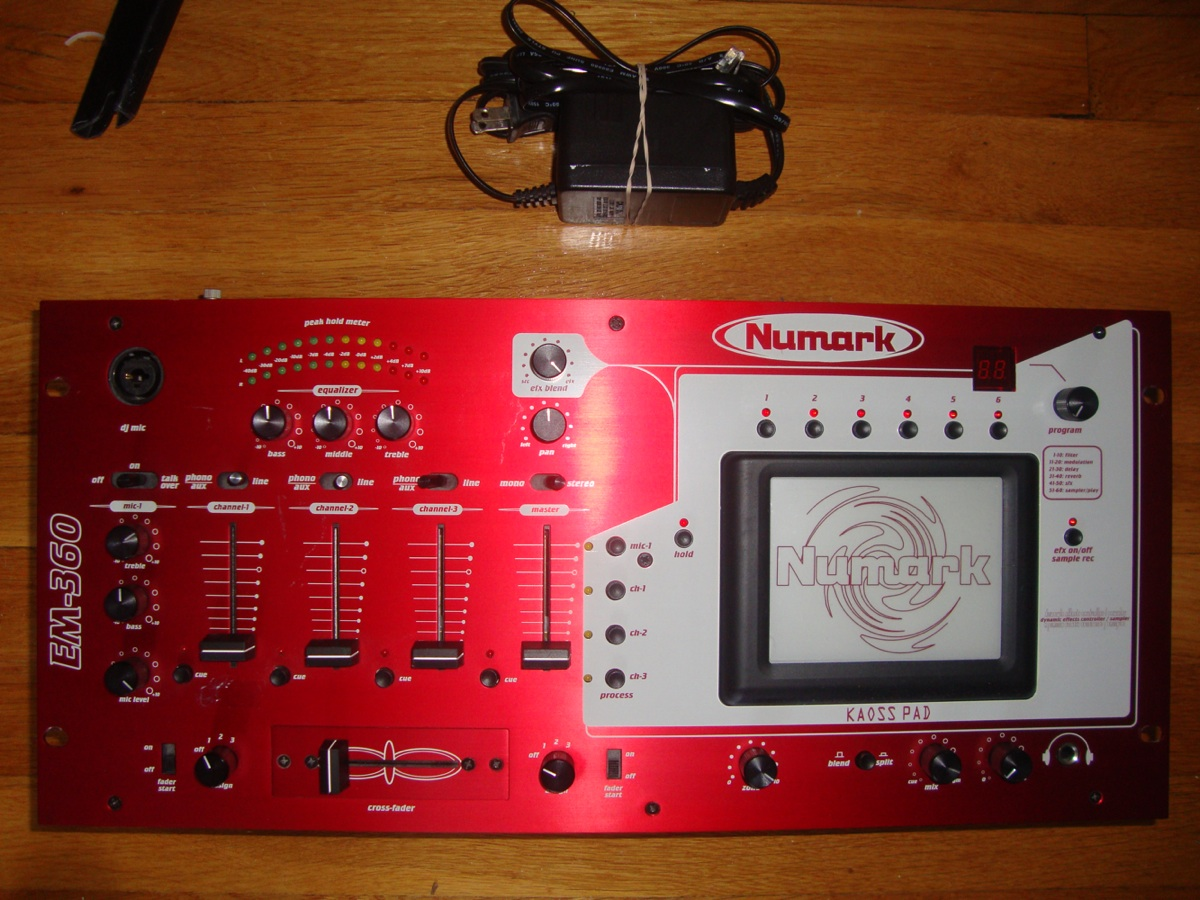 audio blowout numark em 360 with kaoss pad rh audioblowout blogspot com