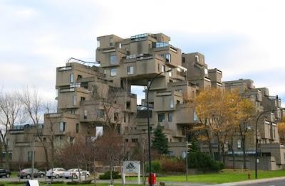 Elegant style Habitat 67 residential complex