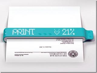 Portable printer Future technology devices concept