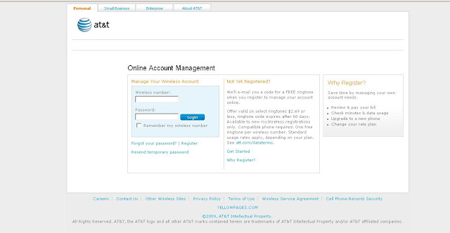 Cingular.com My Account - Cingular Wireless Login