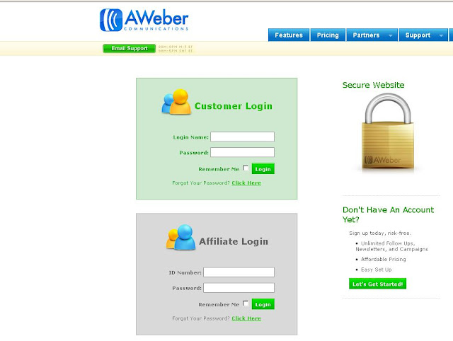AWeber Login to your account at www.aweber.com for Email Marketing