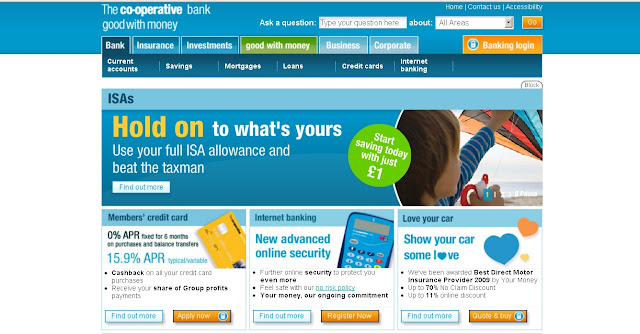 Www.co-operativebank.co.uk - Cooperative Bank Internet Banking Online
