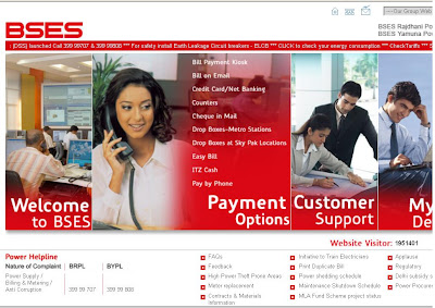 Bill Payment Online at www.bsesdelhi.com