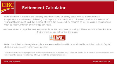 CIBC Retirement Calculator - CIBC Retirement Savings Plan