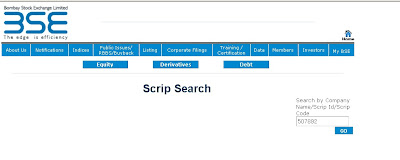 How to Search Scrips on BSE India Scrip page?