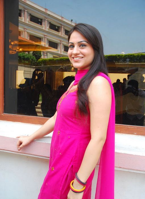 aksha in test pink dress aksha smooth lips cute stills