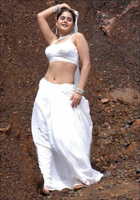 mallu aunty white saree ing her very tight blouse seeing big actress pics