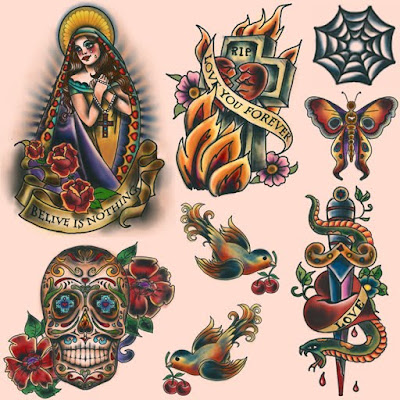 Beautifully detailed, classic tattoos..:). Posted by ScaryMary at 2/28/2010