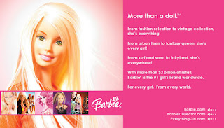 The new Barbie Girl goes gadget, attached to an MP3 player and with Internet capability
