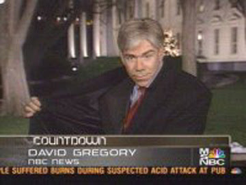 David Gregory does a wonderful job on MSNBC, filling in for Don Imus's old spot