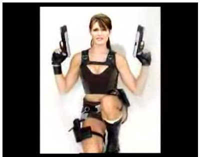 The new American Idol, sexy Sarah Palin as shown in a Jimmy Kimmel video parodying her Where Are They Now? style