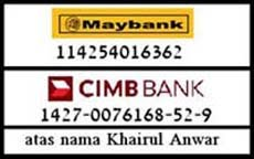 money transfer, bank-in here and sms ur address