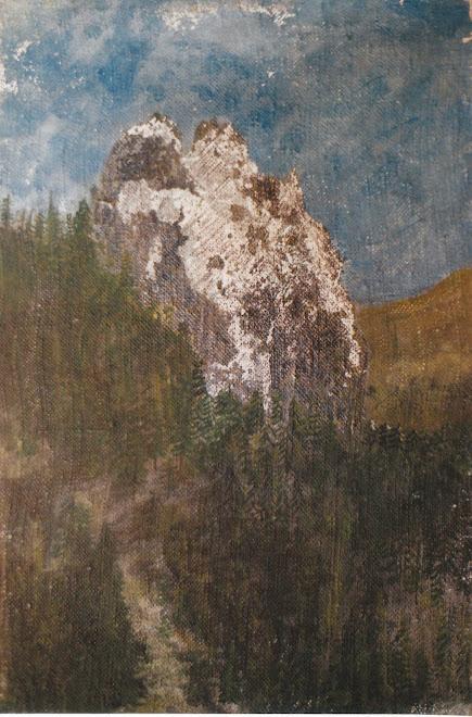 Montagne. (technique mixte)