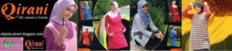 QIRANI Kaos Dewasa, Remaja, Kids untuk Muslimah