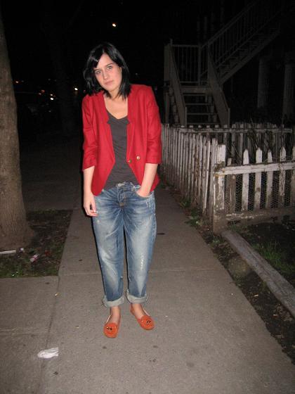 veste et t-shirt(H&M), jeans boyfriend(Zara)