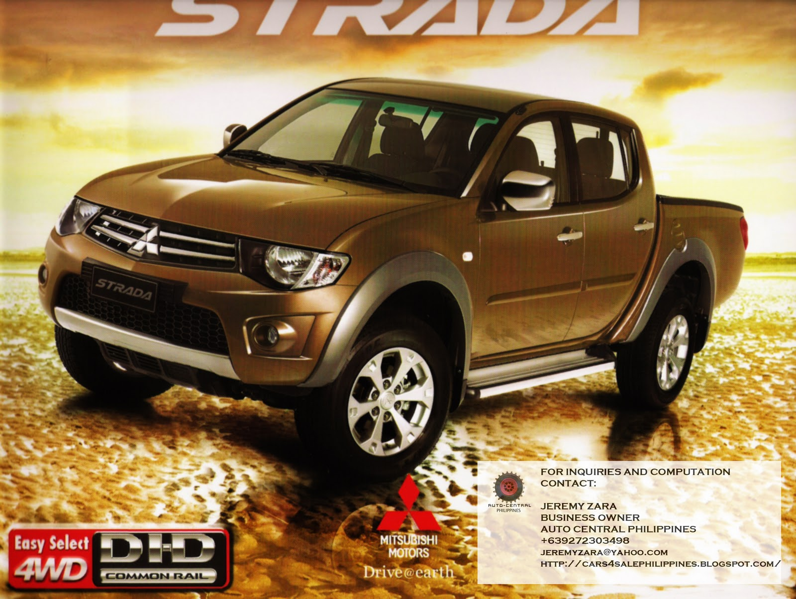 Jt Auto Sales >> Brand New Cars for Sale: BRAND NEW MITSUBISHI STRADA FOR SALE