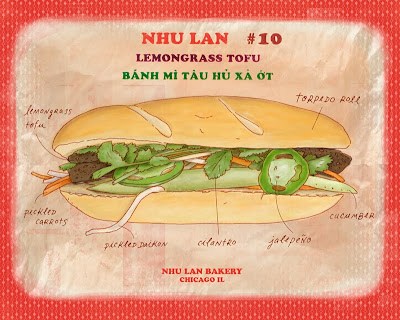 caged tomato: Food Fan Art: Lemongrass Tofu Banh Mi