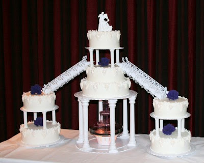 Cake Stand With Stairs Bridge Water Fountain