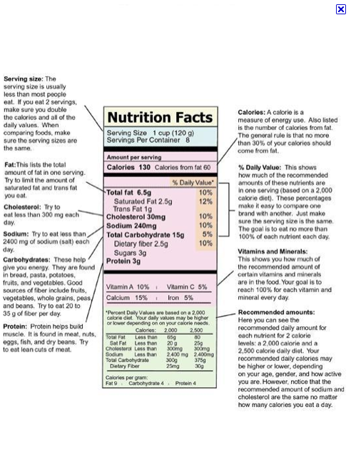 Reading and Understanding Food Labels - for Kids!