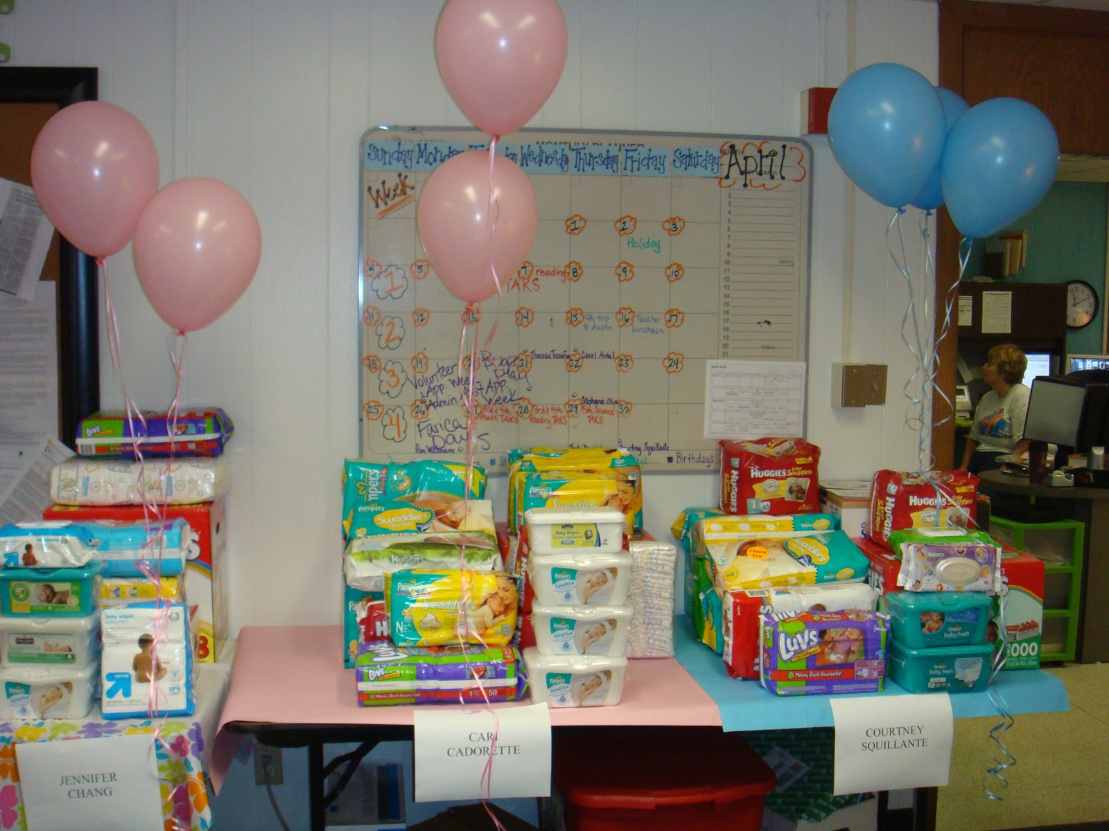 Parents Across Grade Levels Sent In Wipes And Diapers For Us. We Got Them  On Friday! Here Are Some Pics Of The Generosity Of Our Kids And Parents! :)