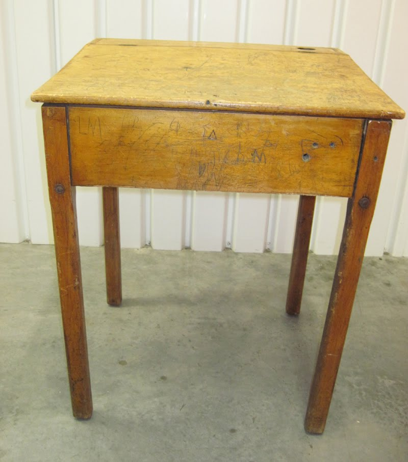 Wooden School Desk ~ Marla henderson design antique wooden school desk