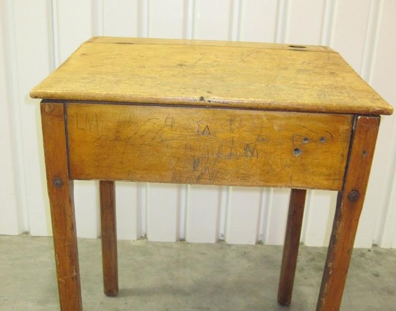 Marla Henderson Design Antique Wooden School Desk