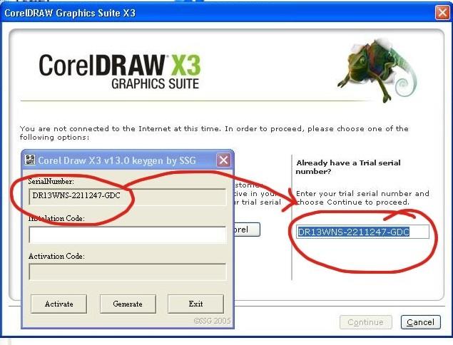 keygen by ssg corel draw x3