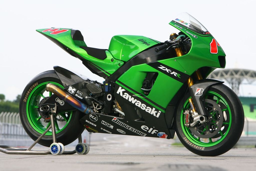 2010 Green Kawasaki Ninja ZX RR 800cc wallpaper title=