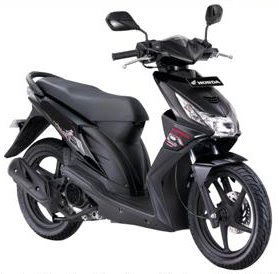 Honda BEAT Modifikasi Hitam
