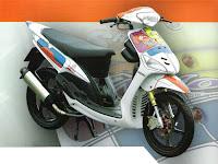 Gambar Modifikasi Motor Yamaha mio Airbrush