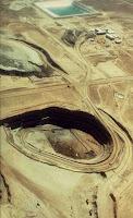 Open-pit uranium mining