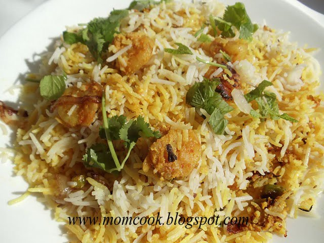 The food I cook...: Shrimp Biryani