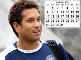 Sachin Calendar 2011  Wallpape