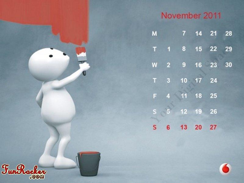 photo calendar 2011. Vodafone ZooZoo Calendar 2011