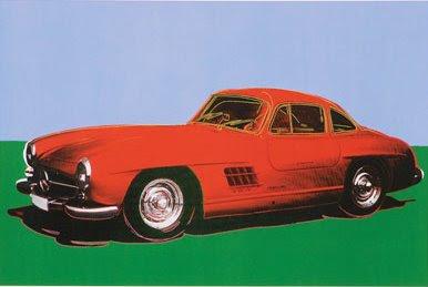 warhol, cars, mercedes 300 sl