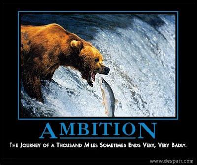 carteles desmotivadores, ambicion