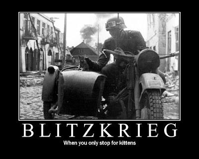 cartel desmotivador, blitzkrieg