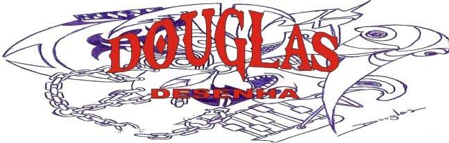 Douglas desenha.