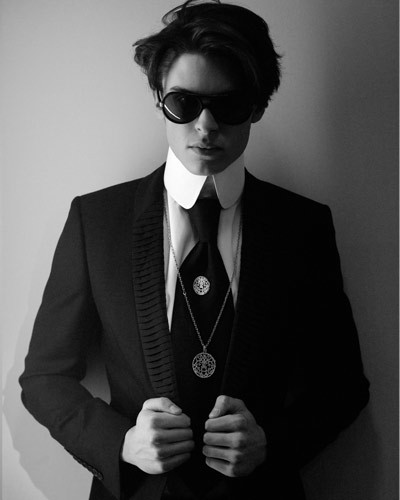 The style therapy baptiste giabiconi musa di karl for Karl lagerfeld fotografo