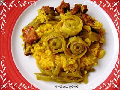 Los toques de enamorada arroz con alcachofas - Arroz caldoso con costillas y alcachofas ...