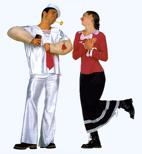 Popeye and Olive Oyl Costumes IdeasOlive Oyl And Popeye
