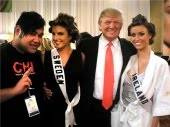Wade, Miss Sweden, Donald Trump, Miss Ireland - 2009