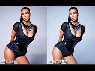 Kim Kardashian with Photoshop