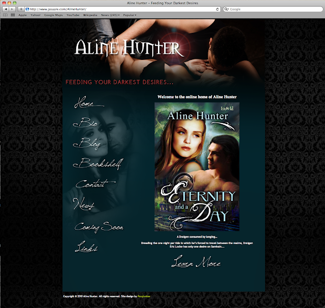 Screen+shot+2010 07 25+at+10.55.17+AM Aline Hunter Web Site Goes Live Book Blogger Design