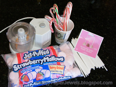 Crafty Gems: Peppermint Marshmallow Pops (for Stirring in Hot Cocoa