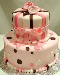 Torta Quinceaños de dos pisos.