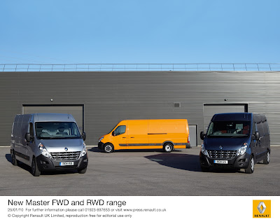 New Renault Master 2010. The new Master is available to